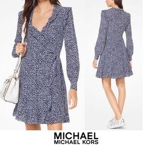 Michael Kors Paisley Silk Wrap Dress - Size M